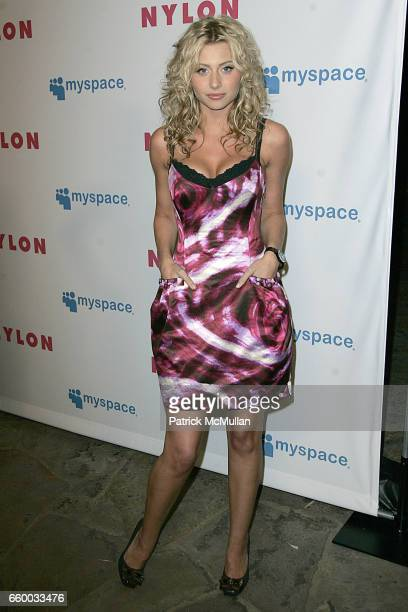 Aly Michalka attends NYLON and MYSPACE May Young Hollywood Issue Party Hosted by Kat Dennings and Olivia Thirlby at Roosevelt Hotel on May 4 2009 in...