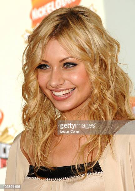 Aly Michalka of Aly AJ during Nickelodeon's 20th Annual Kids' Choice Awards Arrivals at Pauley Pavilion in Westwood California United States