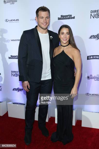 Aly Raisman and Colton Underwood attend Sports Illustrated Swimsuit 2017 Launch Event at Center415 Event Space on February 16 2017 in New York City