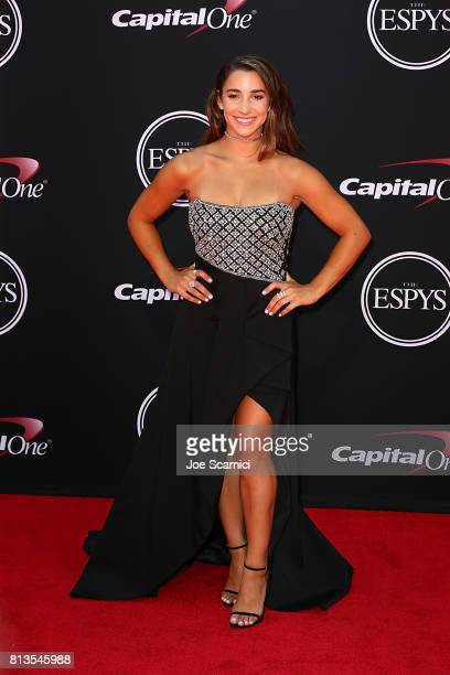 Aly Raisman arrives at the 2017 ESPYS at Microsoft Theater on July 12 2017 in Los Angeles California