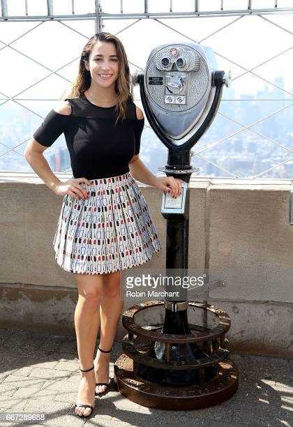 Aly Raisman attends 2017 AAU James E Sullivan Award Finalists visit at The Empire State Building on April 11 2017 in New York City