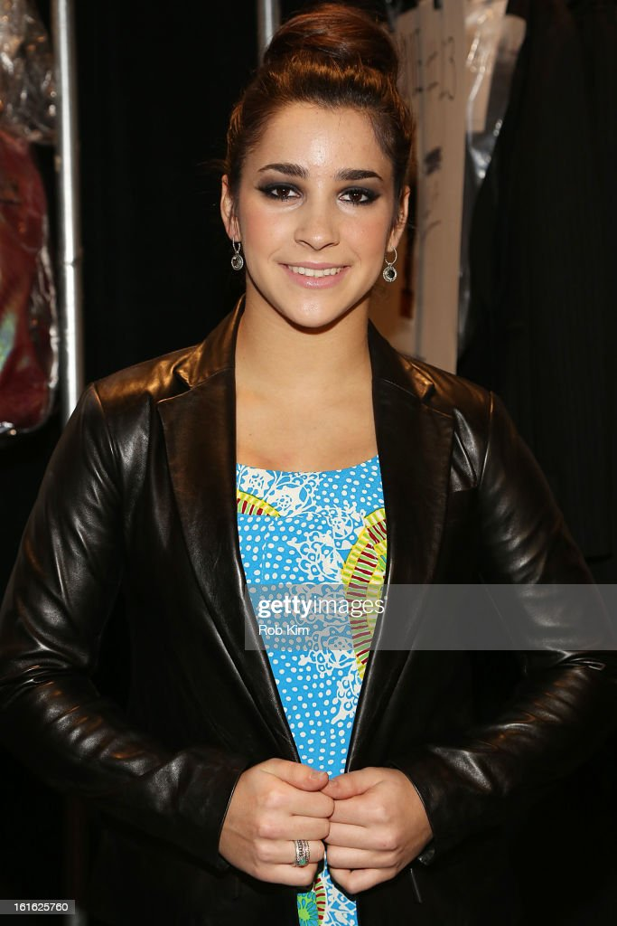 Aly Raisman attends Nanette Lepore during Fall 2013 Mercedes-Benz Fashion Week at The Stage at Lincoln Center on February 13, 2013 in New York City.