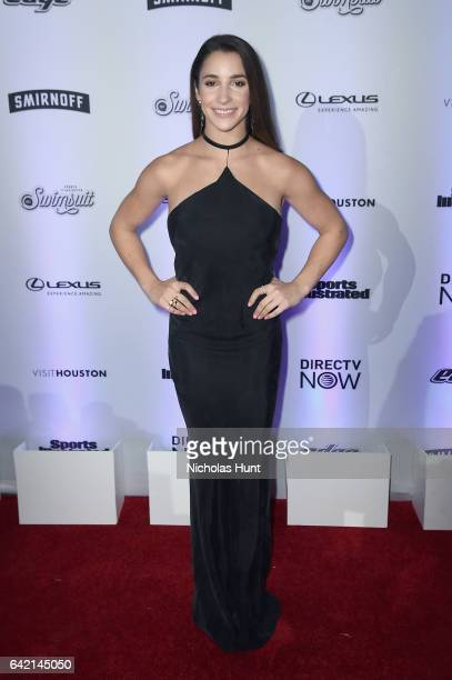 Aly Raisman attends Sports Illustrated Swimsuit 2017 NYC launch event at Center415 Event Space on February 16 2017 in New York City