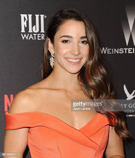 Aly Raisman attends the 2017 Weinstein Company and Netflix Golden Globes after party on January 8 2017 in Los Angeles California