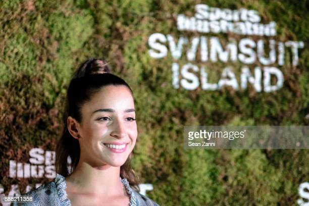 Aly Raisman attends the Sports Illustrated Sneak Peek of its SI Swimsuit Island during Art Basel at The W Hotel South Beach on December 7 2017 in...