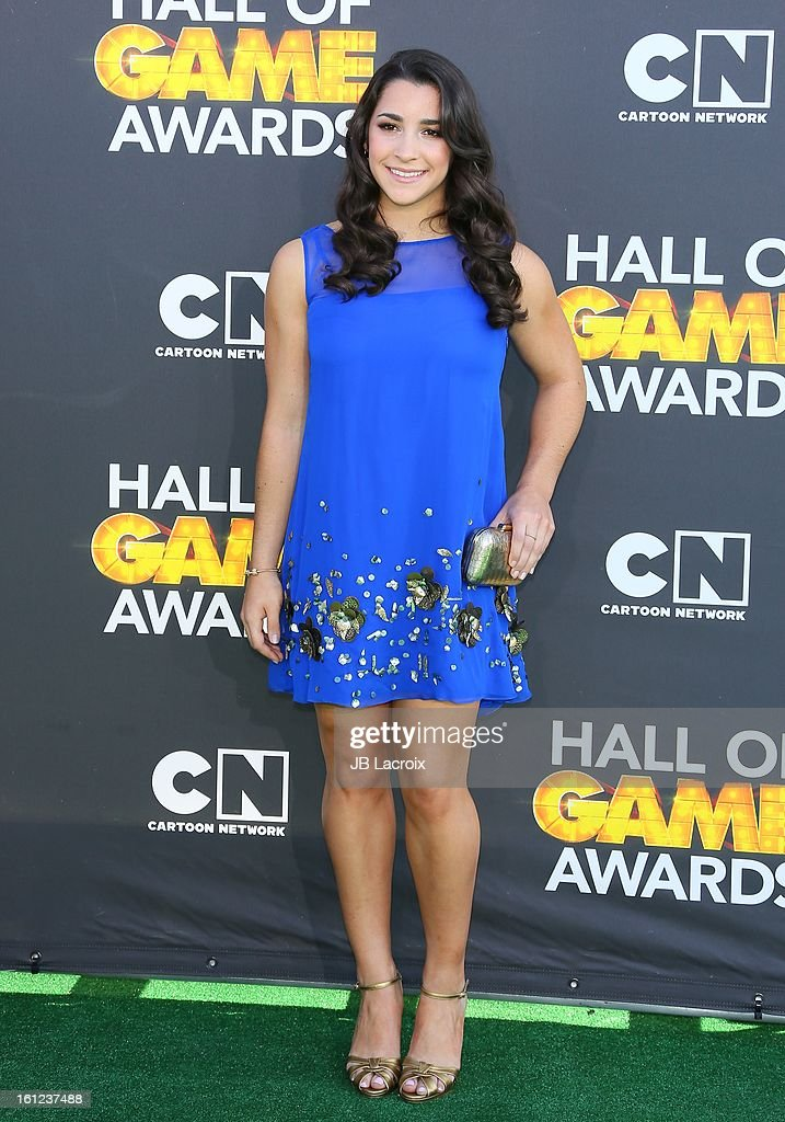 Aly Raisman attends the Third Annual Hall of Game Awards hosted by Cartoon Network at Barker Hangar on February 9, 2013 in Santa Monica, California.