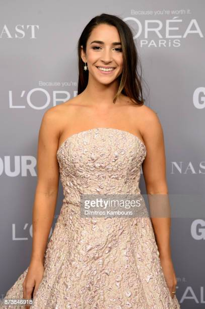 Aly Raisman poses backstage at Glamour's 2017 Women of The Year Awards at Kings Theatre on November 13 2017 in Brooklyn New York