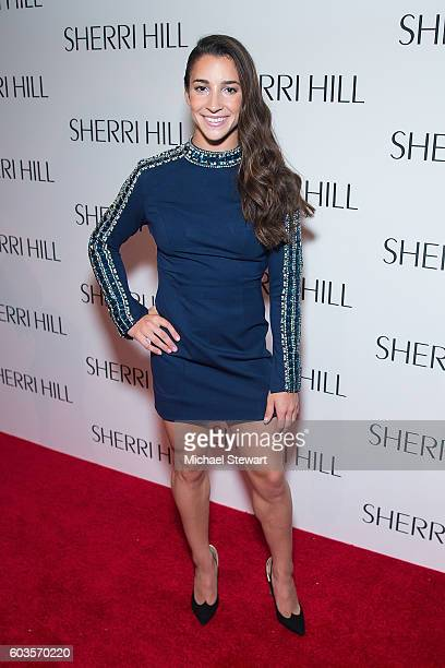 Aly Raismans attend the Sherri Hill fashion show during September 2016 New York Fashion Week The Shows at Gotham Hall on September 12 2016 in New...