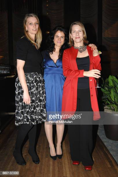 Alya Wisten Neri Oxman and Paola Antonelli attend EARTH AWARDS Gala at The Four Seasons on January 12 2009 in New York City