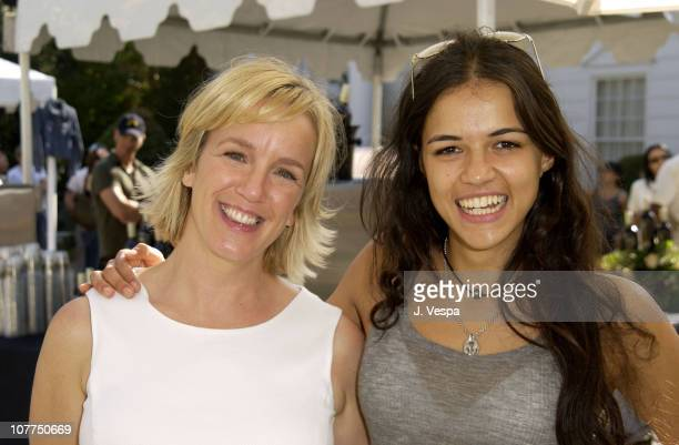 Alyce Alston Vice President and Publisher of 'W Magazine' and Michelle Rodriguez