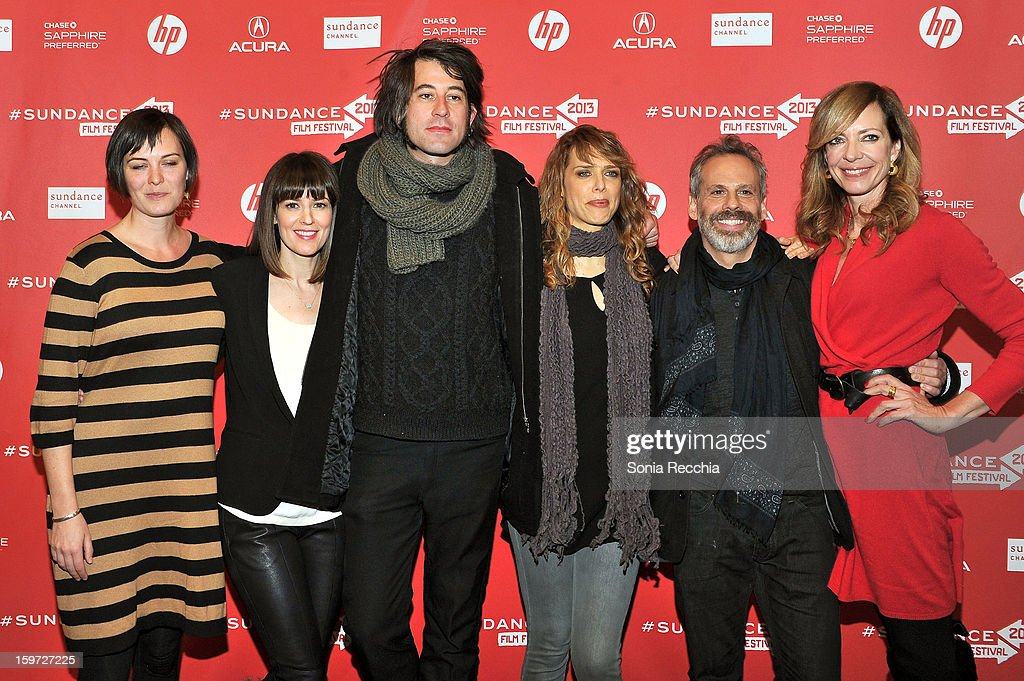 Alycia Delmore, <a gi-track='captionPersonalityLinkClicked' href=/galleries/search?phrase=Rosemarie+DeWitt&family=editorial&specificpeople=630212 ng-click='$event.stopPropagation()'>Rosemarie DeWitt</a>, Benjamin Kasulke, Lynn Shelton, <a gi-track='captionPersonalityLinkClicked' href=/galleries/search?phrase=Josh+Pais&family=editorial&specificpeople=753345 ng-click='$event.stopPropagation()'>Josh Pais</a> and <a gi-track='captionPersonalityLinkClicked' href=/galleries/search?phrase=Allison+Janney&family=editorial&specificpeople=206290 ng-click='$event.stopPropagation()'>Allison Janney</a> attend the 'Touchy Feely' premiere at Eccles Center Theatre during the 2013 Sundance Film Festival on January 19, 2013 in Park City, Utah.