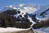 Alyeska Mountain western slopes are home to Alyeska Ski Resort in Girdwood, the best skiing in Alaska.