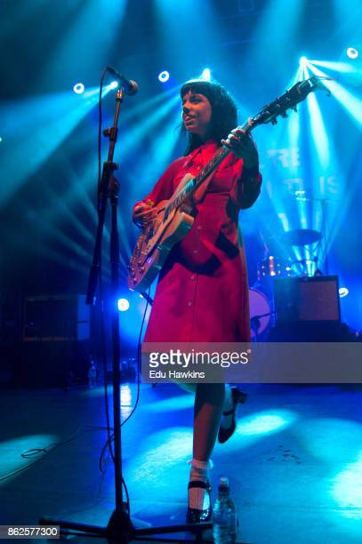 Alynda Segarra of Hurray for the Riff Raff performs live on stage at KOKO on October 17 2017 in London England