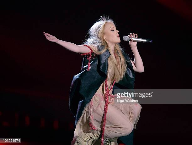 Alyosha of Ukraine performs during the final dress rehearsal of the Eurovision Song Contest on May 28 2010 in Oslo Norway on May 28 2010 in Oslo...