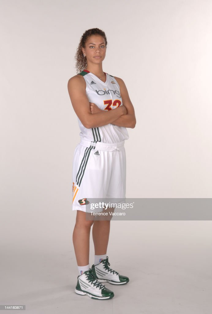 Alysha Clark #32 of the Seattle Storm poses for a photo during 2012 WNBA Media Day on May 27, 2012 at Key Arena in Seattle, Washington.