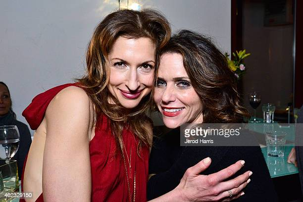 Alysia Reiner and Amy Landecker attend IMDB's annual STARmeter award dinner party on January 26 2015 in Park City Utah