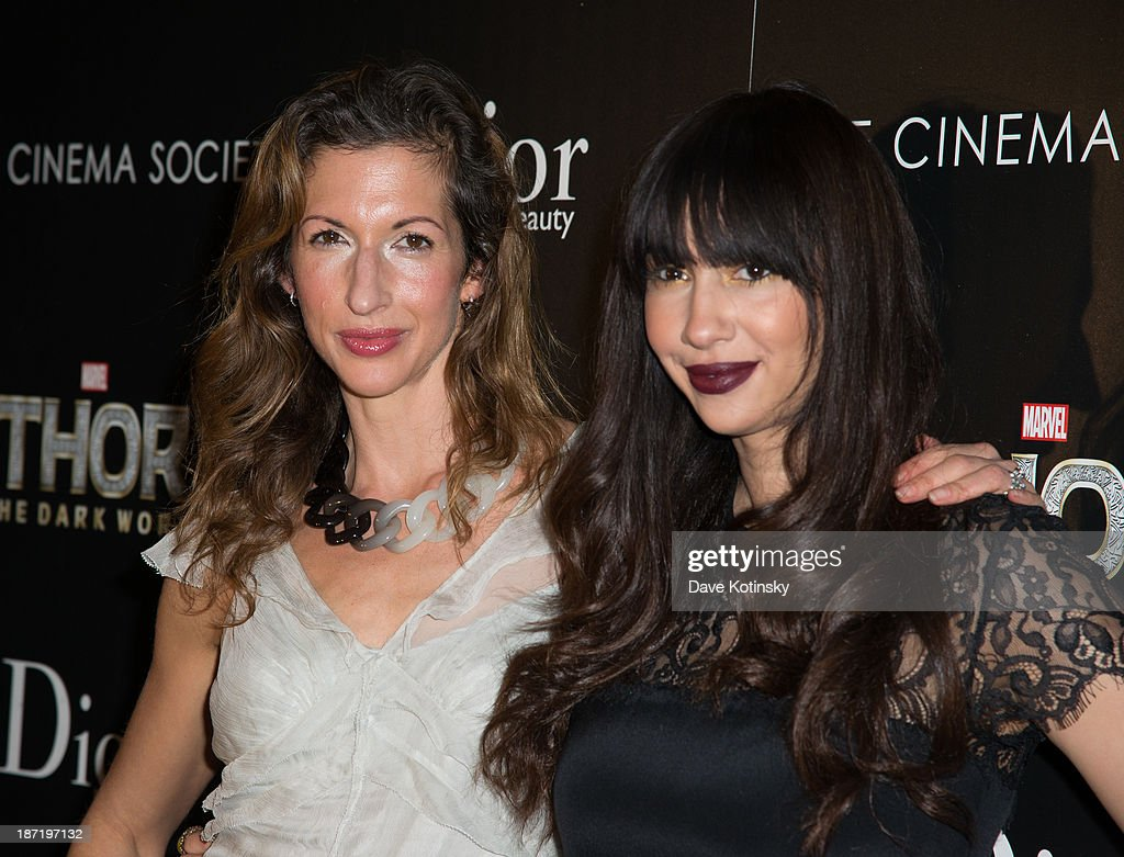 <a gi-track='captionPersonalityLinkClicked' href=/galleries/search?phrase=Alysia+Reiner&family=editorial&specificpeople=655685 ng-click='$event.stopPropagation()'>Alysia Reiner</a> and Jackie Cruz attends a screening of 'Thor: The Dark World' hosted by The Cinema Society And Dior Beauty>> at 79 Crosby Street on November 6, 2013 in New York City.
