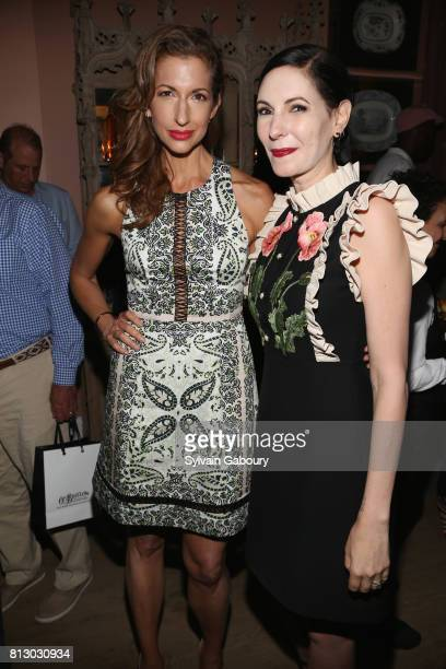 Alysia Reiner and Jill Kargman attend The Cinema Society Kargo host the after party for the Season 3 Premiere of Bravo's 'Odd Mom Out' on July 11...