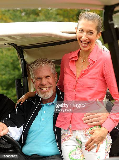 Alysia Reiner and Ron Perlman attend the Screen Actors Guild Foundation Inaugural NY Golf Classic at Trump National Golf Club Westchester on October...