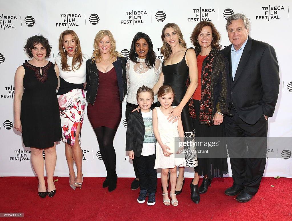 Alysia Reiner Anna Gunn Meera Menon and Sarah Megan Thomas Margaret Colin Tom Bernard Lukas GilkisonParrish and Olivia GilkisonParrish attend Tribeca...