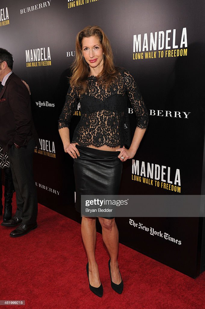 Alysia Reiner attend U2 And Anna Wintour Host A Special Screening Of Mandela: Long Walk To Freedom, In Partnership With Burberry And The New York Times at Ziegfeld Theatre on November 25, 2013 in New York City.
