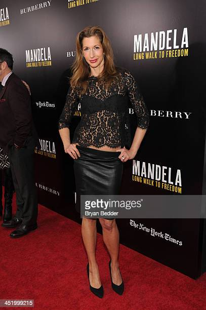Alysia Reiner attend U2 And Anna Wintour Host A Special Screening Of Mandela Long Walk To Freedom In Partnership With Burberry And The New York Times...