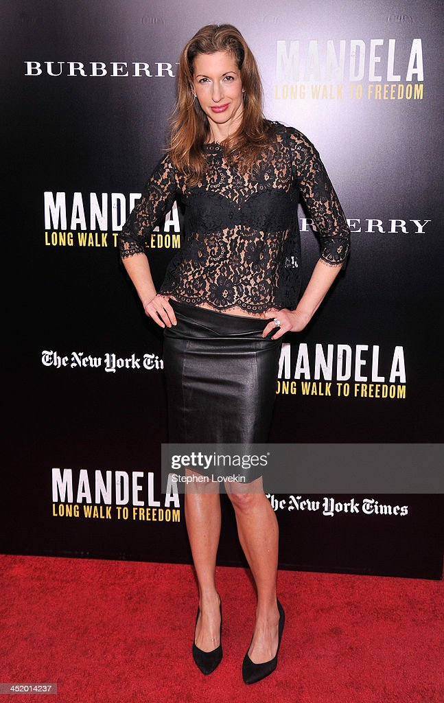 Alysia Reiner attends 'Mandela: Long Walk To Freedom' screening hosted by U2, Anna Wintour, Bob and Harvey Weinstein with Burberry at Ziegfeld Theater on November 25, 2013 in New York City.