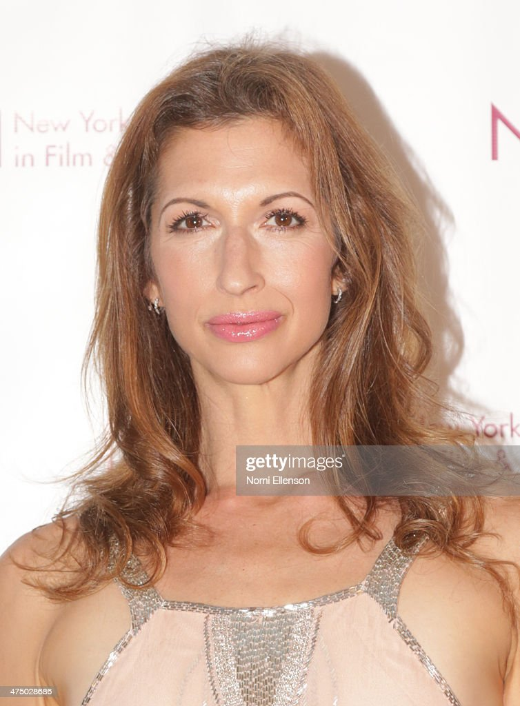 Alysia Reiner attends the 2015 New York Women in Film & Television Designing Women Awards Gala at Scholastic Auditorium on May 28, 2015 in New York City.