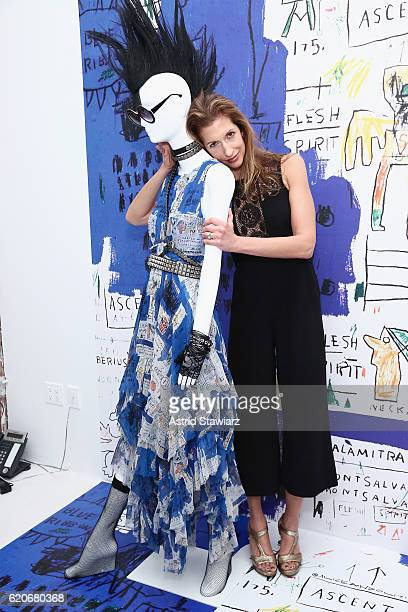 Alysia Reiner attends the alice olivia x Basquiat CFDA Capsule Collection launch party on November 2 2016 in New York City