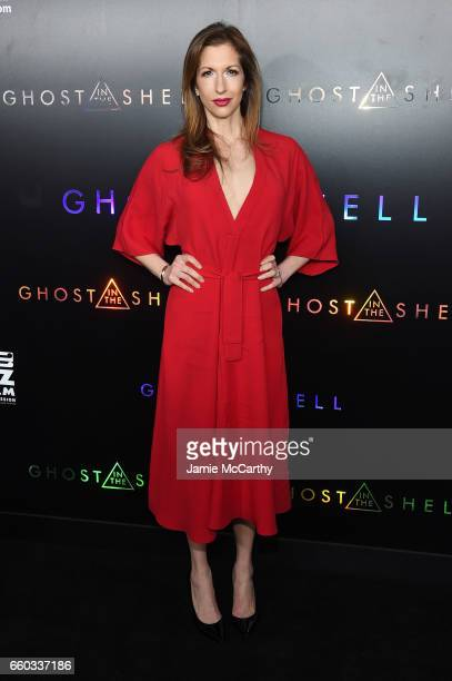 Alysia Reiner attends the 'Ghost In The Shell' premiere hosted by Paramount Pictures DreamWorks Pictures at AMC Lincoln Square Theater on March 29...