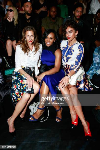 Alysia Reiner June Ambrose and Shari Loeffler during the Bibhu Mohapatra fashion show with Narayan Jewellers in association with ForeverMark Diamonds...