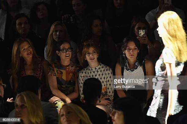 Alysia Reiner Miriam Shor Molly Kate Bernard and Chloe Norgaard attend the Vivienne Tam fashion show during New York Fashion Week The Shows at The...