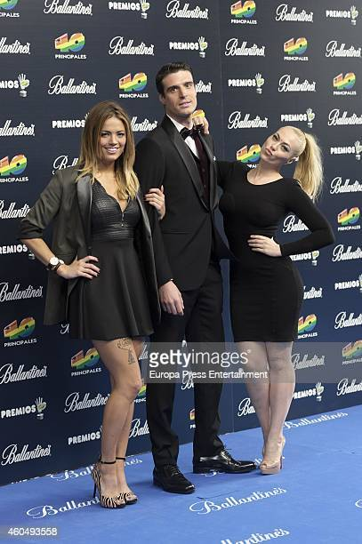 Alyson Eckmann and Daniela Blume attend the '40 Principales' awards 2014 ceremony on December 12 2014 in Madrid Spain