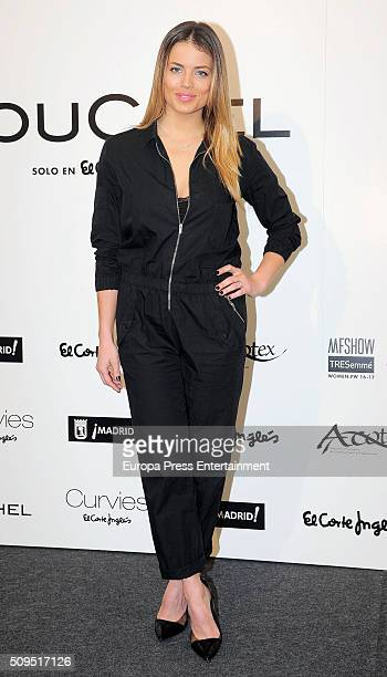 Alyson Eckmann attends Couchel fashion show photocall on February 10 2016 in Madrid Spain