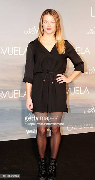 Alyson Eckmann attends 'No llores vuela' premiere at Callao cinema on January 21 2015 in Madrid Spain