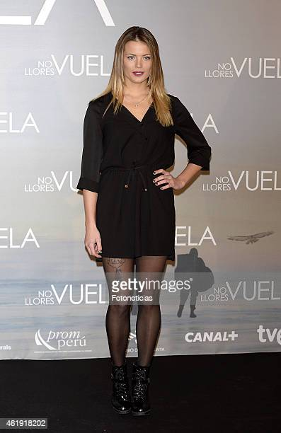 Alyson Eckmann attends the 'No Llores Vuela' premiere at Callao Cinema on January 21 2015 in Madrid Spain