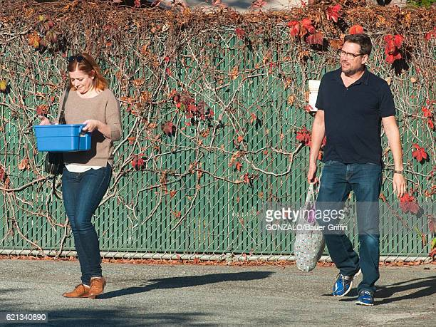 Alyson Hannigan and Alexis Denisof are seen on November 05 2016 in Los Angeles California