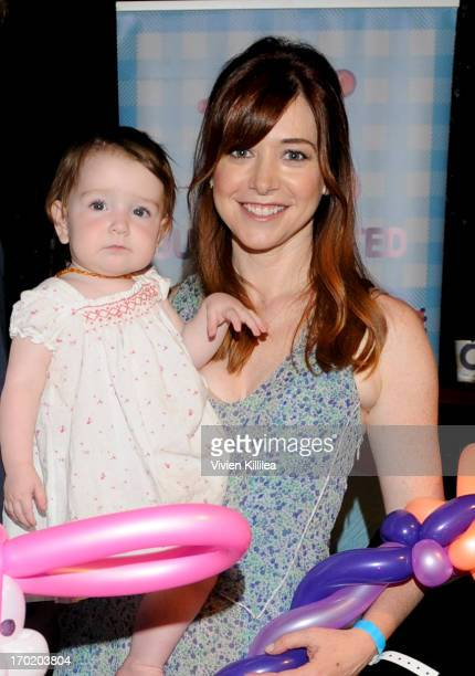 Alyson Hannigan and her daughter Keeva attend at Avalon on June 8 2013 in Hollywood California