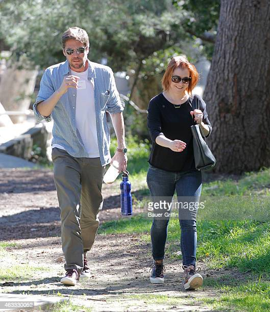 Alyson Hannigan and husband Alexis Denisof are seen on February 12 2015 in Los Angeles California