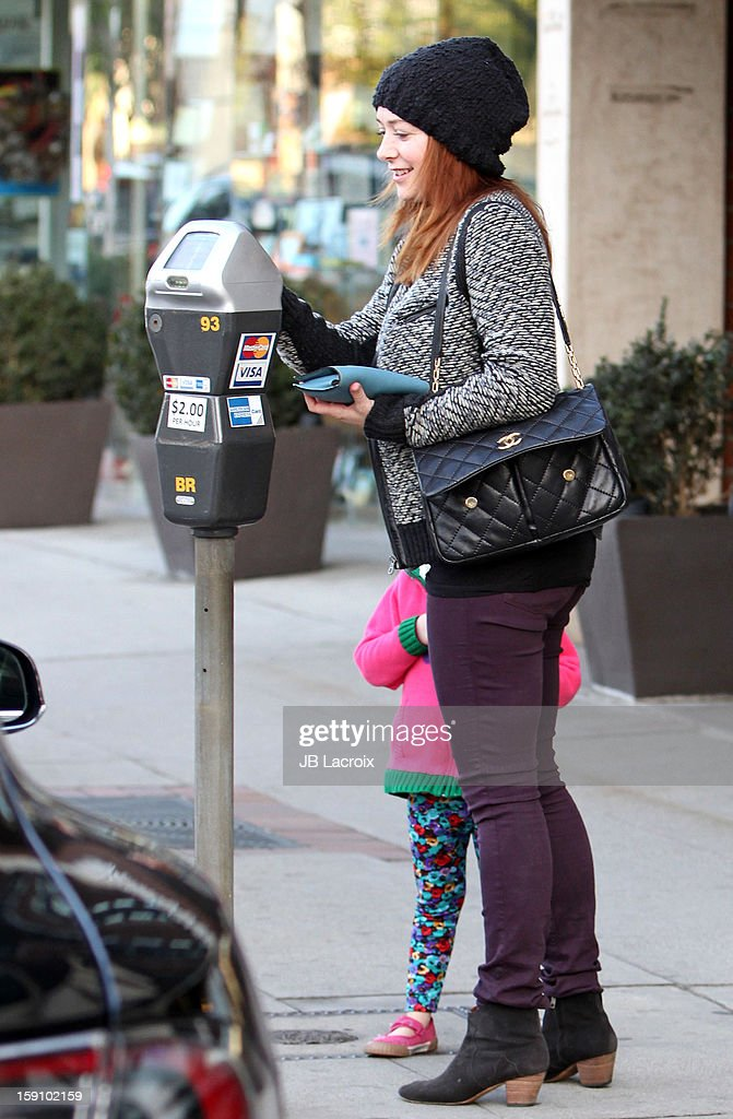 Alyson Hannigan and Satyana Denisof are seen on January 7, 2013 in Los Angeles, California.
