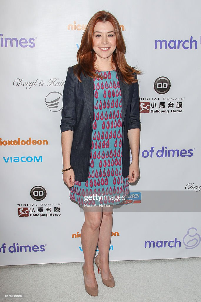 Alyson Hannigan arrives at the March Of Dimes' Celebration Of Babies held at the Beverly Hills Hotel on December 7, 2012 in Beverly Hills, California.