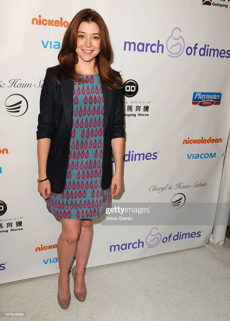 Alyson Hannigan arrives at the March Of Dimes' Celebration Of Babies at Beverly Hills Hotel on December 7, 2012 in Beverly Hills, California.