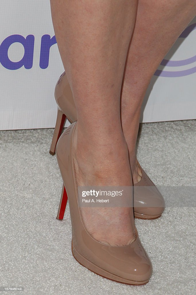 Alyson Hannigan (shoe detail) arrives at the March Of Dimes' Celebration Of Babies held at the Beverly Hills Hotel on December 7, 2012 in Beverly Hills, California.