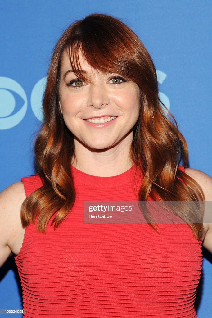Alyson Hannigan attends CBS 2013 Upfront Presentation at The Tent at Lincoln Center on May 15, 2013 in New York City.