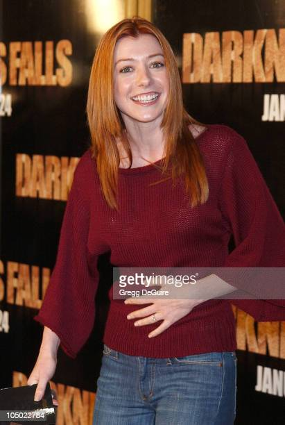 Alyson Hannigan during 'Darkness Falls' Premiere Los Angeles at Mann National Theatre in Westwood California United States