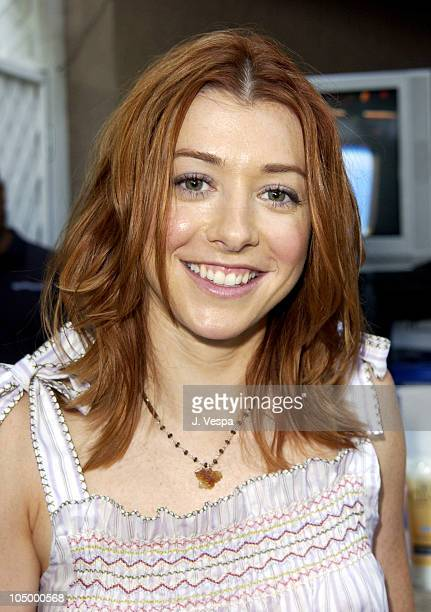 Alyson Hannigan during The 2002 Teen Choice Awards Backstage Creations Talent Retreat Day 2 at Universal Amphitheater in Universal City California...