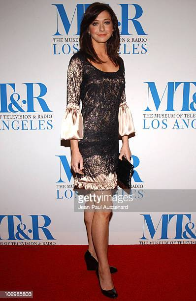 Alyson Hannigan during The Museum of Television Radio Honors Leslie Moonves and Jerry Bruckheimer Arrivals at Regent Beverly Wilshire Hotel in...