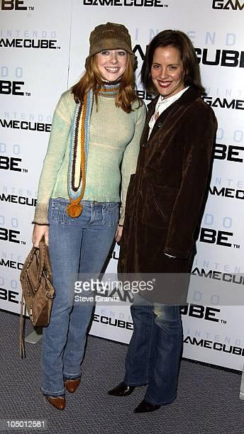 Alyson Hannigan Emma Caulfield during Nintendo Goes Platinum Arrivals in Hollywood California United States