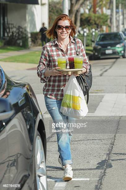 Alyson Hannigan is seen getting lunch at Lemonade on February 04 2015 in Los Angeles California