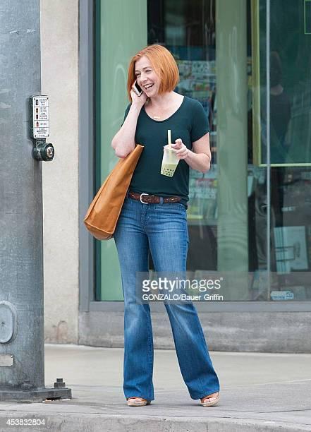 Alyson Hannigan is seen on August 19 2014 in Los Angeles California